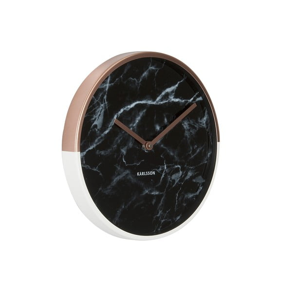 Zegar Karlsson Marble Delight Copper