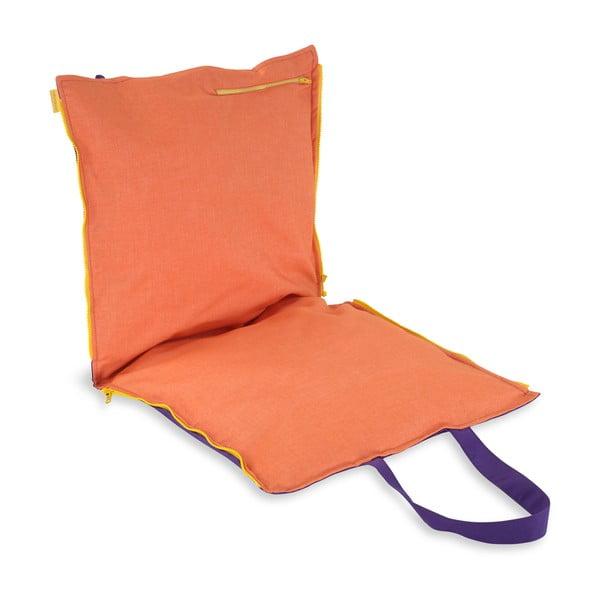 Przenośne siedzisko + torba Hhooboz 100x50 cm, fioletowe
