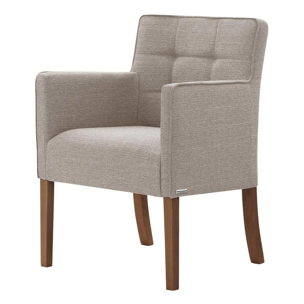 Szarobrązowe krzesło z ciemnobrązowymi nogami Ted Lapidus Maison Freesia
