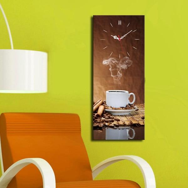Obraz z zegarem Kawa