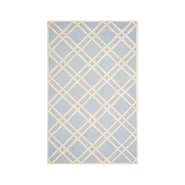 Dywan wełniany Mati 121x182 cm, jasnoniebieski