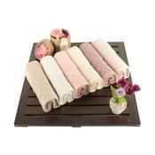 Zestaw 6 ręczników Kalp, 30x50 cm