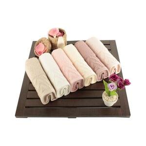 Zestaw 6 bawełnianych ręczników Kalp, 30x50 cm