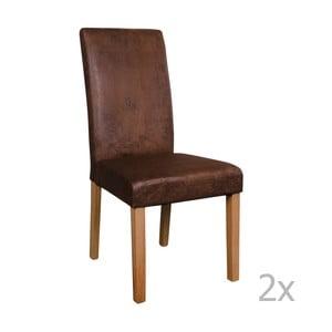 Zestaw 2 brązowych krzeseł House Nordic Mora