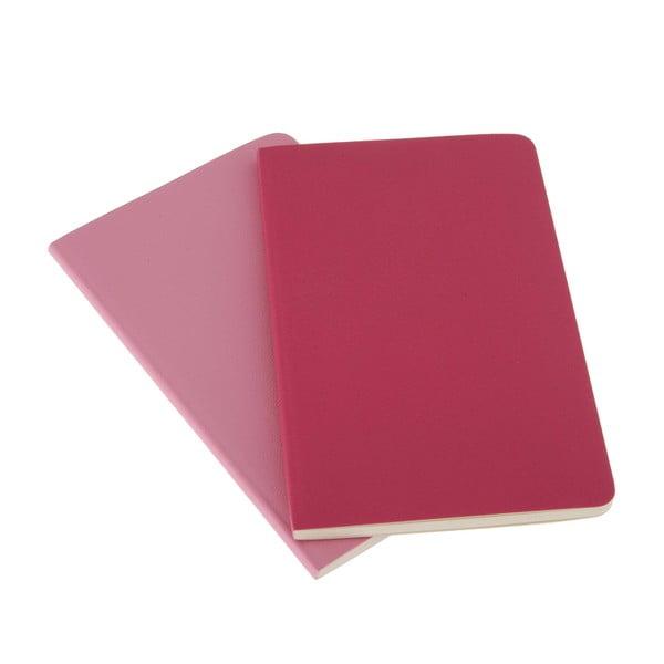 Zestaw 2 notesów  Moleskine Pink, w linie 9x14 cm