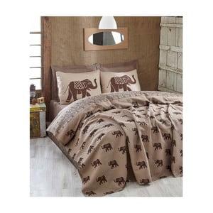Brązowa lekka narzuta na łóżko dwuosobowe Fil Brown, 200x235cm