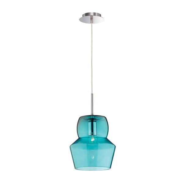 Niebieska lampa wisząca Evergreen Lights Crido Glass Light, 22 cm
