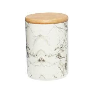 Biały pojemnik porcelanowy Hübsch Marble, wys. 13 cm