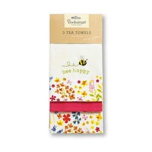 Zestaw 3 ścierek kuchennych Cooksmart England Flowers