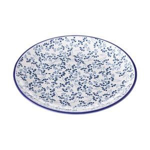 Niebiesko-biały talerz Unimasa Meadow