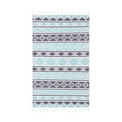 Niebieski ręcznik hammam Begonville Monokai, 180x95 cm