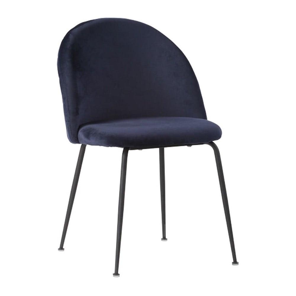 Zestaw 2 niebieskich krzeseł z czarnymi nogami House Nordic Geneve