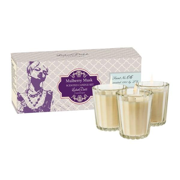 Zestaw 3 świeczek zapachowych Mullbery Musk Lisbeth Dahl