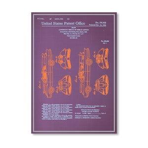 Plakat Batmobile Design, 30x42 cm