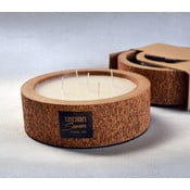 Palmowa świeczka Legno Round o zapachu wanilii i paczuli, 80 godz.
