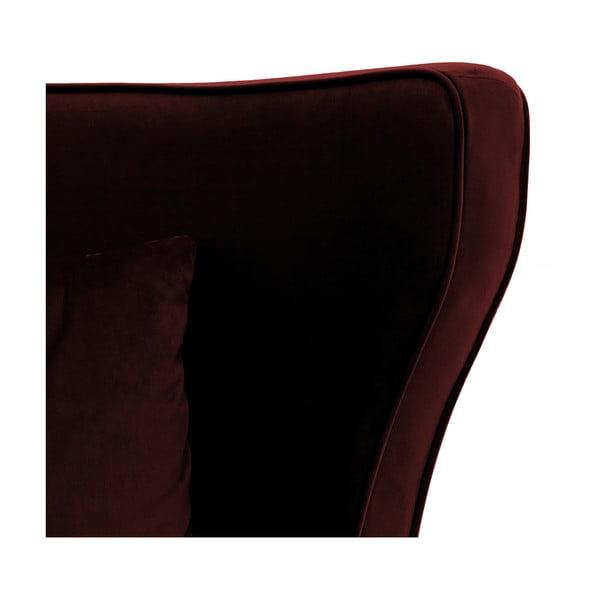 Bordowy fotel Vivonita Douglas Love