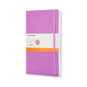 Fioletowy notatnik Moleskine Soft, duży, w linie
