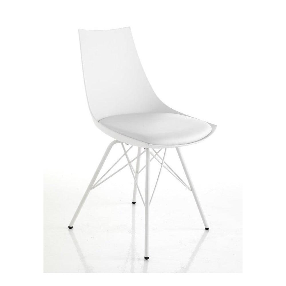 Zestaw 2 białych krzeseł do jadalni Tomasucci Kiki