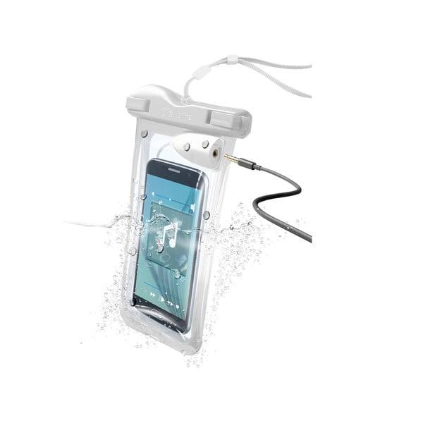 Etui na telefon, wodoszczelne, uniwersalne Cellularline VOYAGER MUSIC z wejściem na 3,5 mm jack, białe