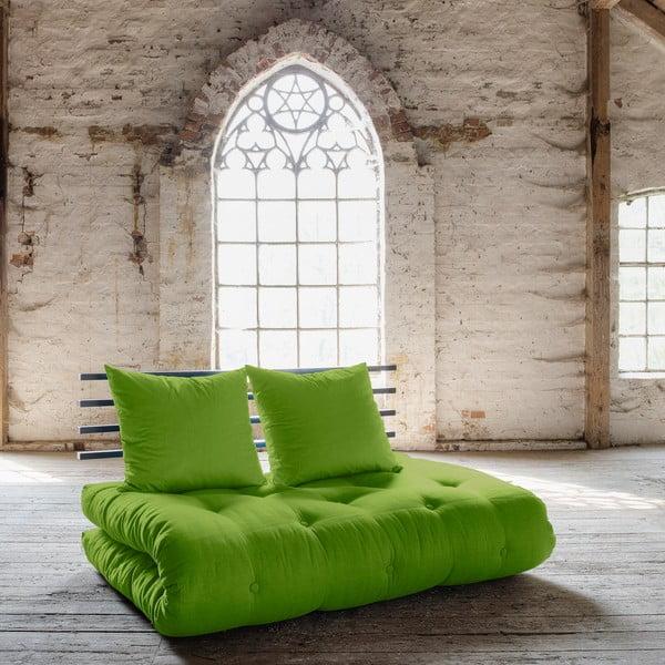 Sofa rozkładana Karup Shin Sano Black/Lime