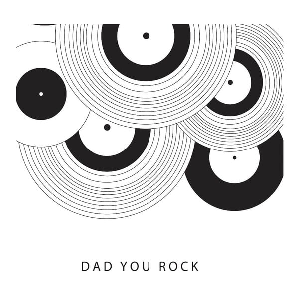 Plakat Dad You Rock, 30x40 cm