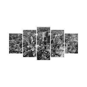Wieloczęściowy obraz Black&White no. 40, 100x50 cm