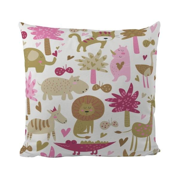 Poduszka   Pink Safari, 50x50 cm