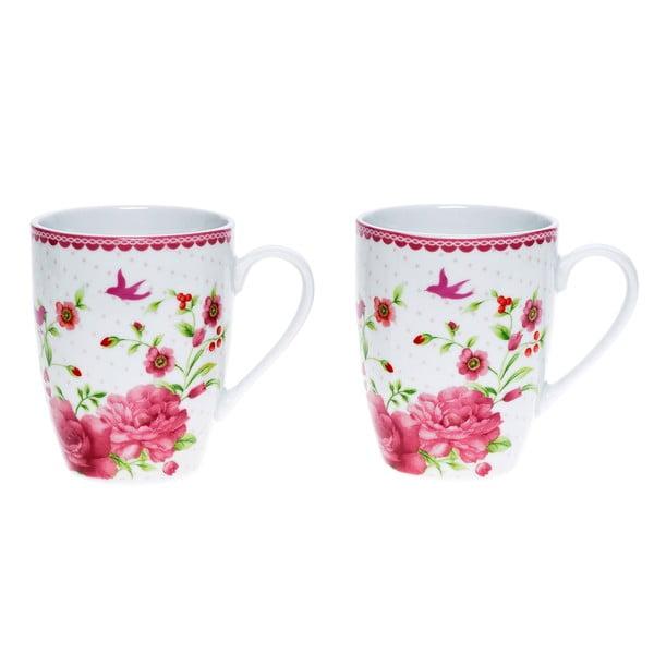 Porcelanowy kubek Pink Rose, 300 ml