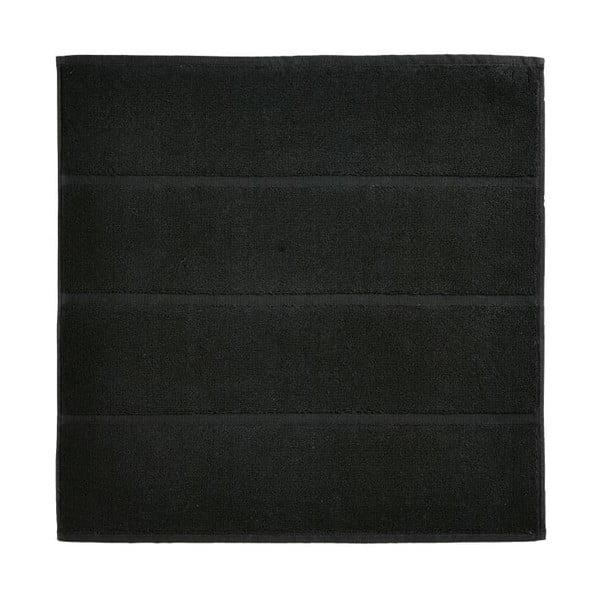 Czarny dywanik łazienkowy Aquanova Adagio, 60x60 cm
