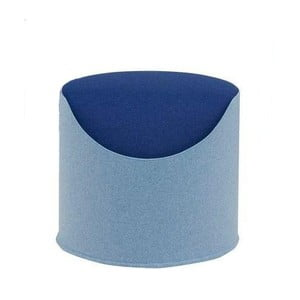 Błękitno-niebieski puf Softline Coral