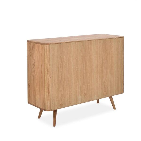 Dębowa komoda z szufladami Gazzda Ena Two, 120x42x90 cm