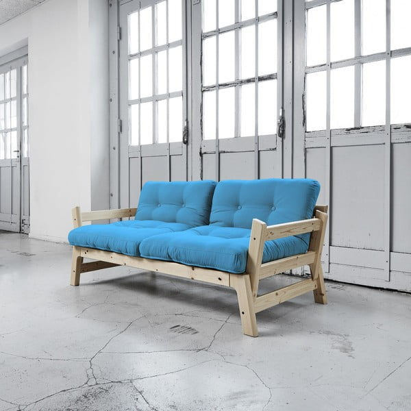 Sofa rozkładana Karup Step Natural/Horizon Blue