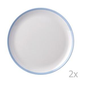 Zestaw 2 talerzy z niebieską krawędzią Rosti Mepal Flow,23cm