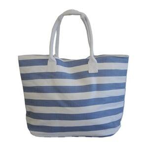 Torba plażowa Stripes, biało-niebieska