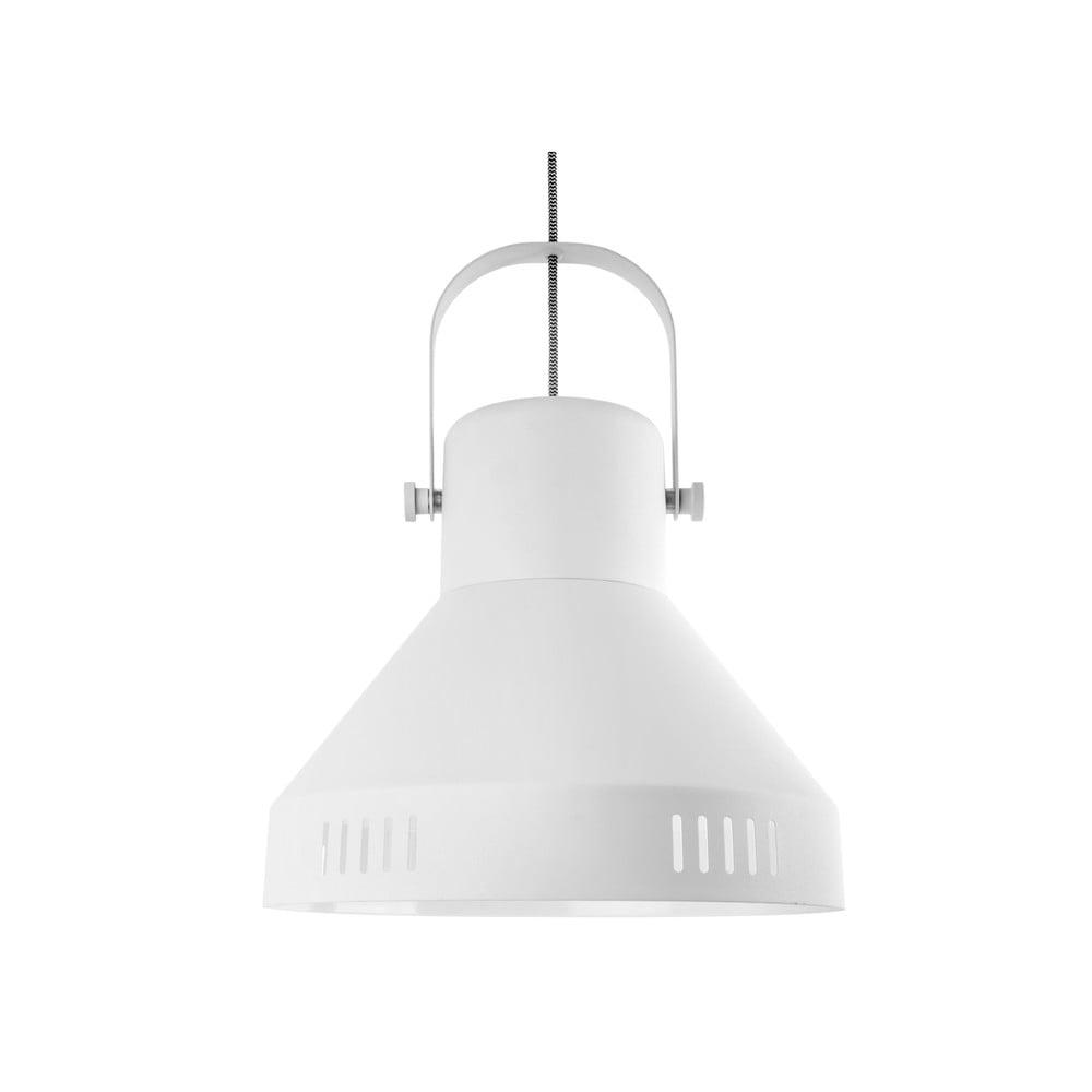 Biała lampa wisząca Leitmotiv Tuned Iron,ø35cm
