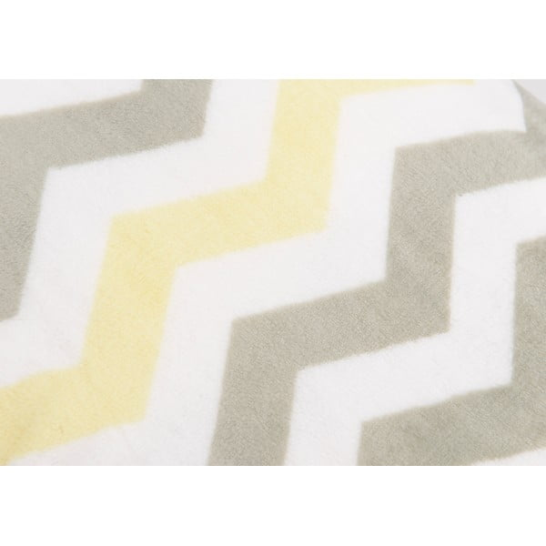 Koc Zig Zag Yellow, 170x130 cm