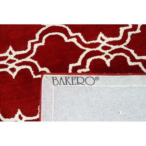 Czerwony dywan wełniany Bakero Riviera, 244x153cm