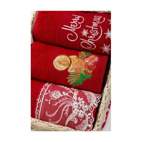 Zestaw 3 ręczników Xmas V30, 30x50 cm