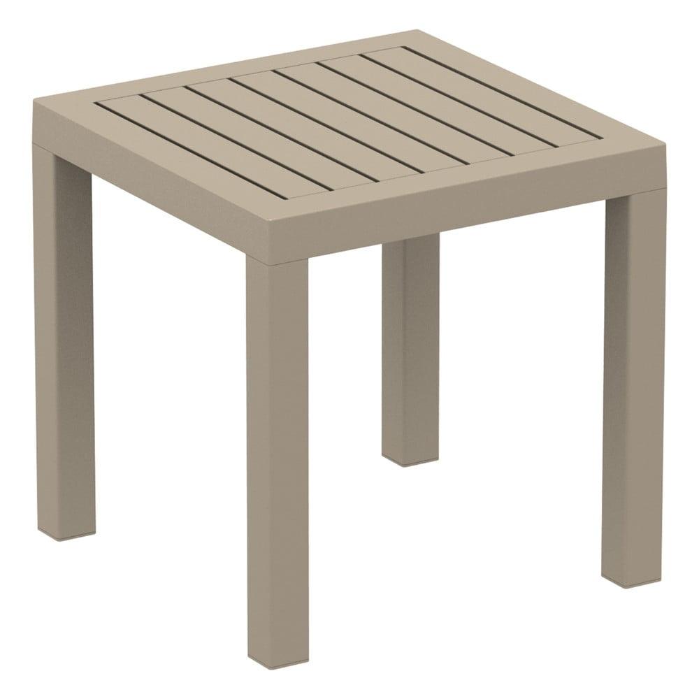 Piaskowobrązowy stolik ogrodowy Resol Ocean, 45x45 cm