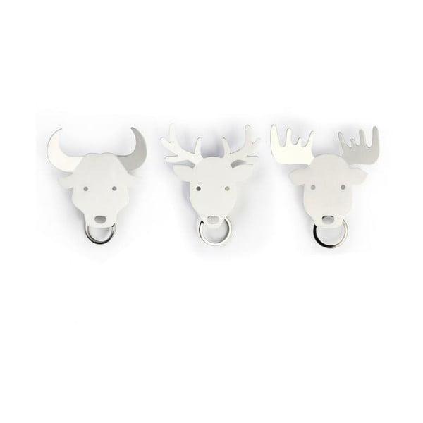 Wieszak na klucze QUALY Deer Key Holder, biały