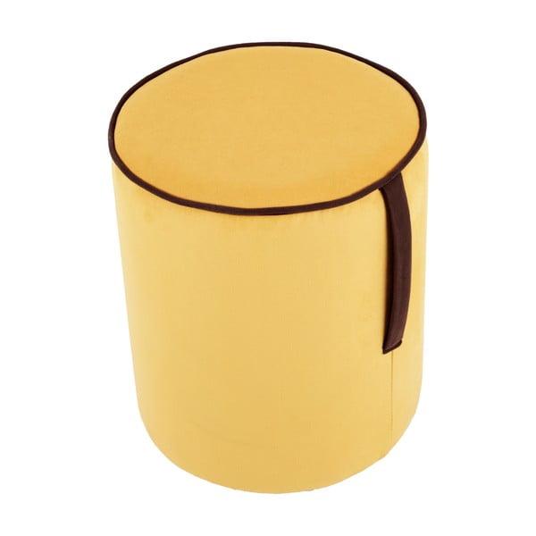 Okrągły puf Pois, żółty