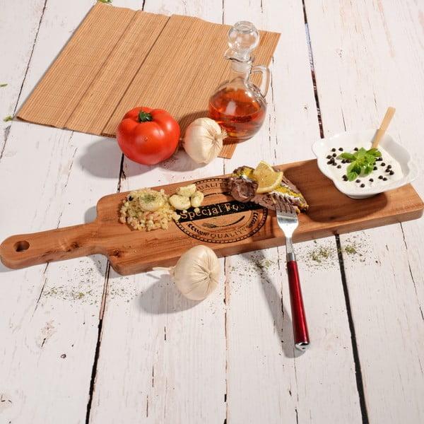 Bambusowa deska do serwowania z miską Flop
