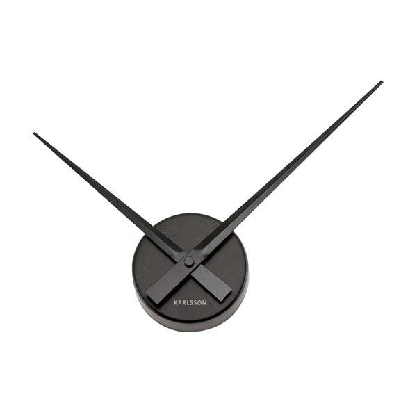 Czarny zegar scienny Present Time Mini