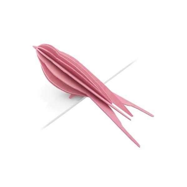 Składana pocztówka Lovi Swallow Light Pink