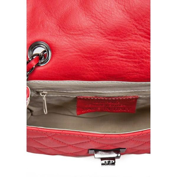Czerwona skórzana torebka Markese Nappa