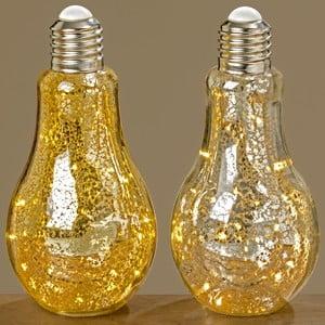 Zestaw 2 dekoracji świetlnych LED Boltze Bulb,wys.23cm