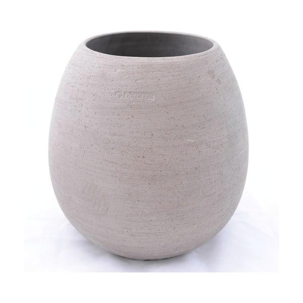 Doniczka ceramiczna Goccia 38 cm, szara