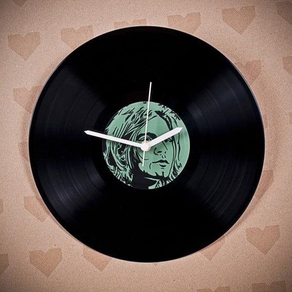 Winylowy zegar Kurt Cobain