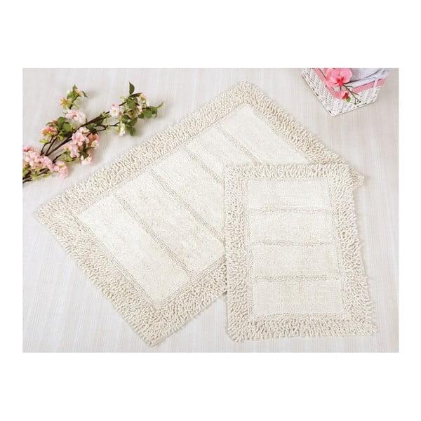 Zestaw 2 białych dywaników łazienkowych Irya Home Vesta, 60x100 cm i 40x60 cm