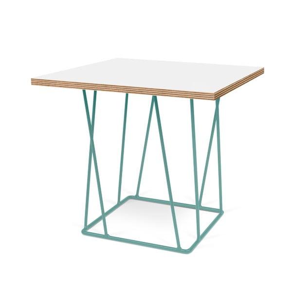 Biały stolik z zielonymi nogami TemaHome Helix, 50 cm